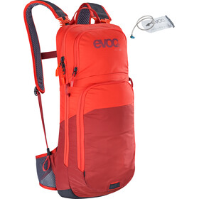EVOC CC Lite Performance zaino 10l + sacca idrica 2l, orange/chili red